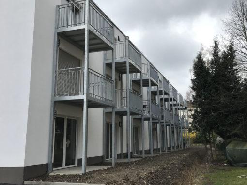 Balkonanlage an einem Mehrfamilienhaus