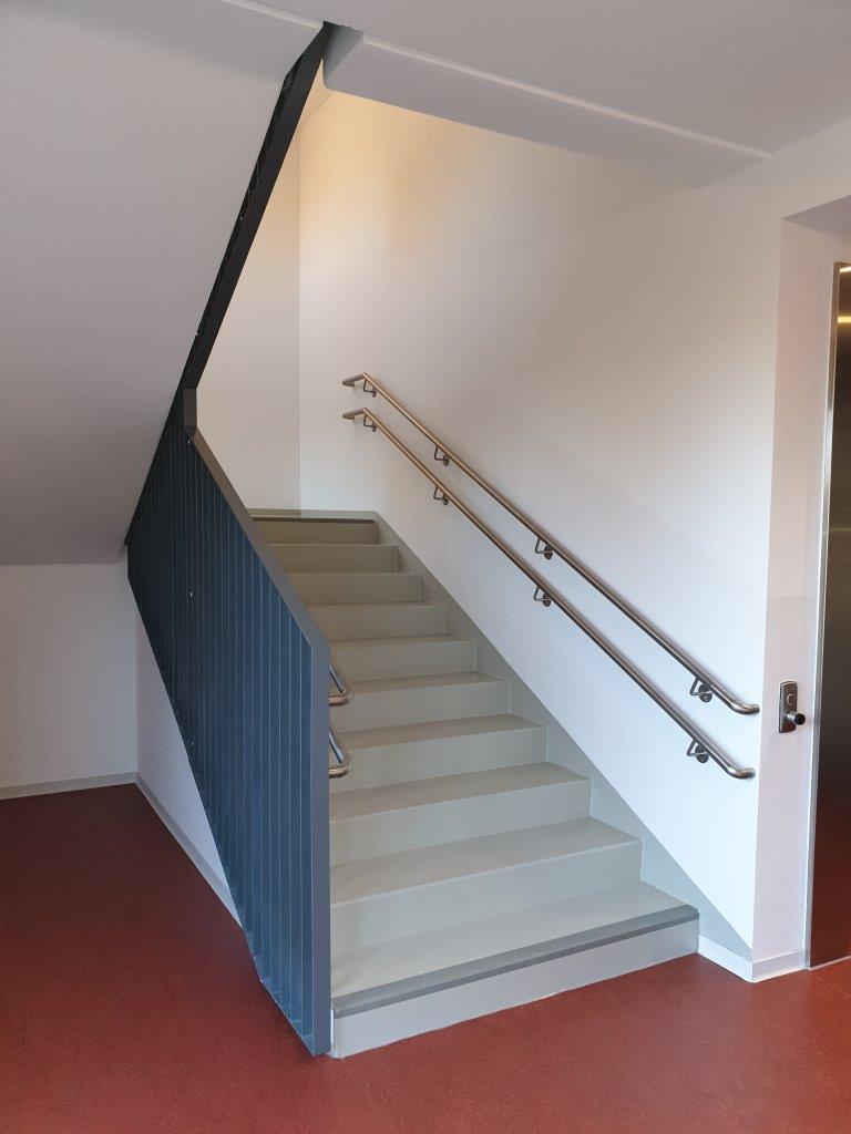 Geländer mit Handlauf der Innentreppe, EG